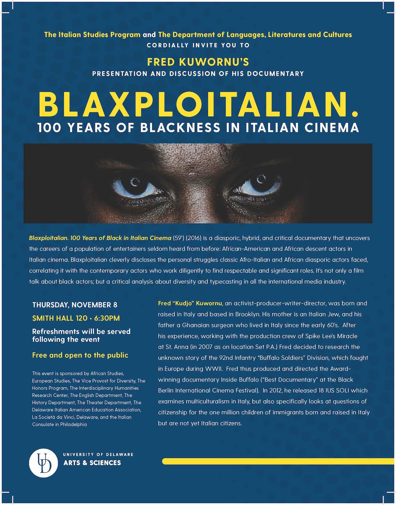 BLAXOITALIAN poster