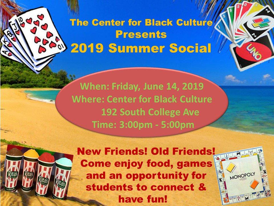 Center for Black Culture Summer Event